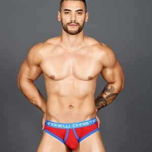 Andrew Christian Almost Naked Retro Thong Red NWT